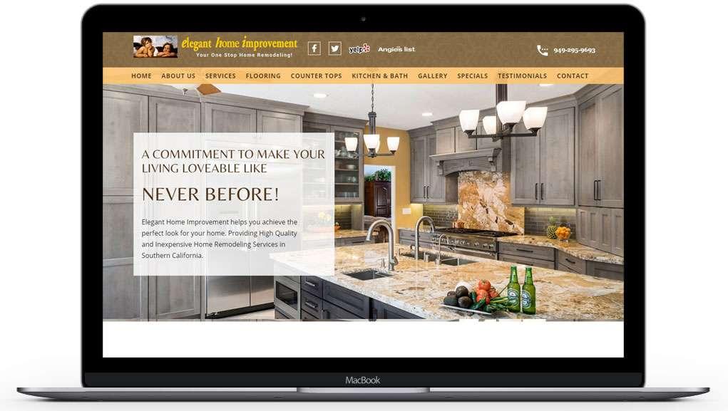 elegantimporvements website home page