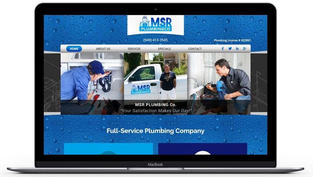 msrplumbing website home page